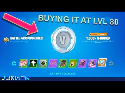 Buying The Battle Pass At Level 80 1000 Free V-Bucks (Fortnite: Battle Royale)