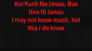 tujh mein rab dikhta hai (FEMALE VERSION - LYRICS + TRANSLATION)