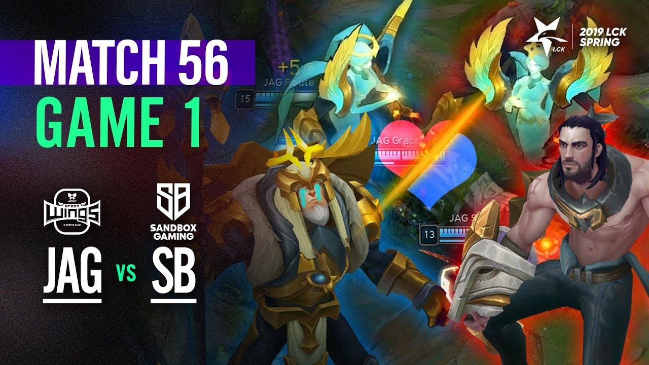 JAG vs SB Match56 Game1 Highlight   2019 LCK Spring