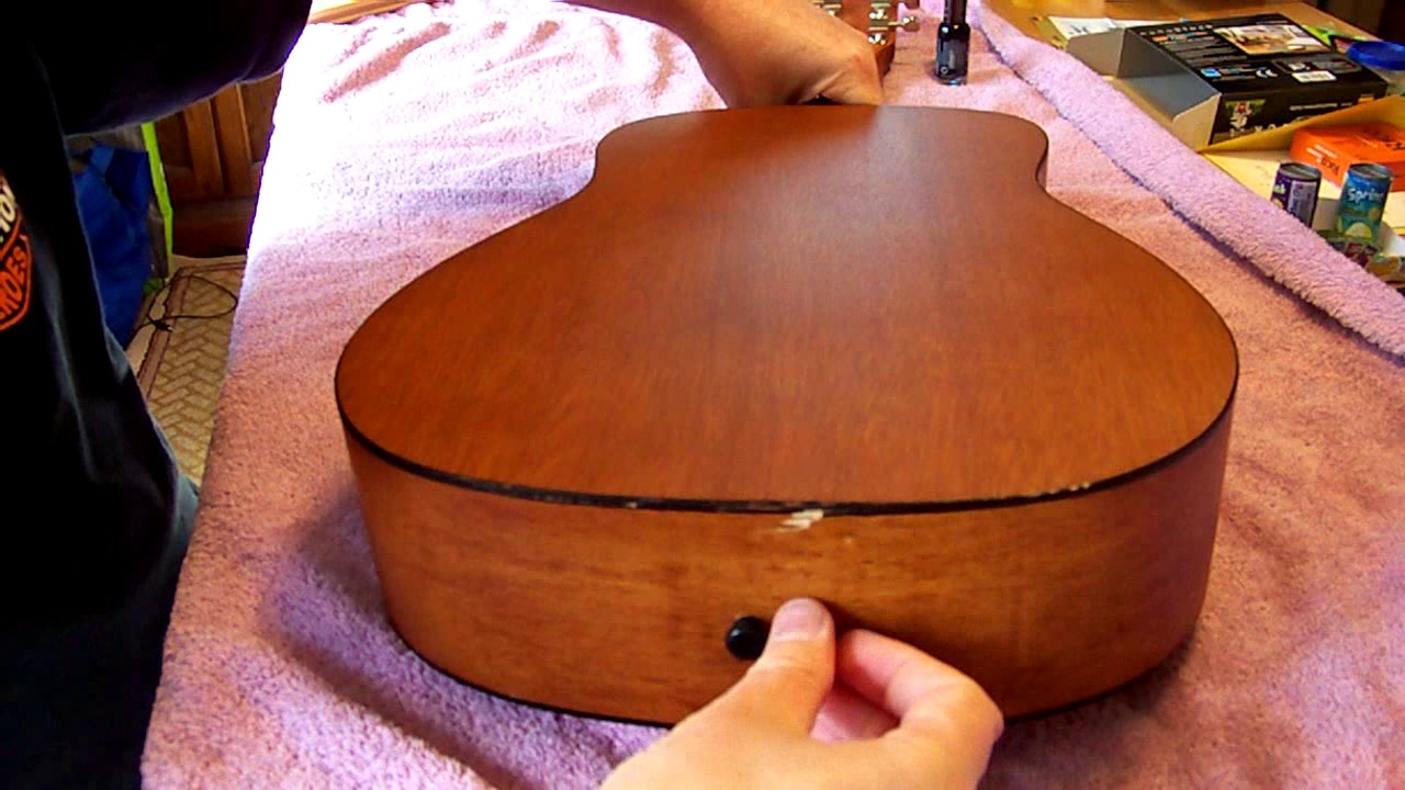 acoustic guitar back separating easy repair youtube. Black Bedroom Furniture Sets. Home Design Ideas