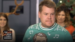 flushyoutube.com-James Corden Hosts His Staff's Secret Santa Gift Exchange