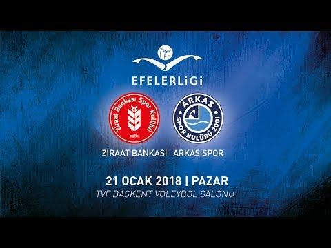 2017 - 2018 / Efeler Ligi 14. Hafta / Ziraat Bankası 2 - 3 Arkas Spor