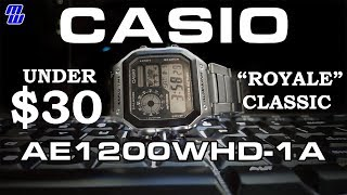 Casio AE1200WHD-1A Classic World Time Watch - Review, Measurements, Amber Light, Tears for Shells
