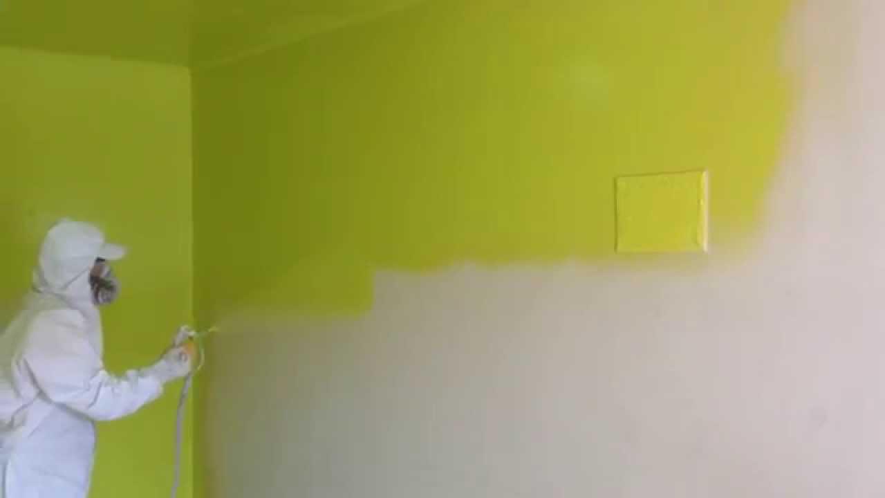 Цветная побелка стен