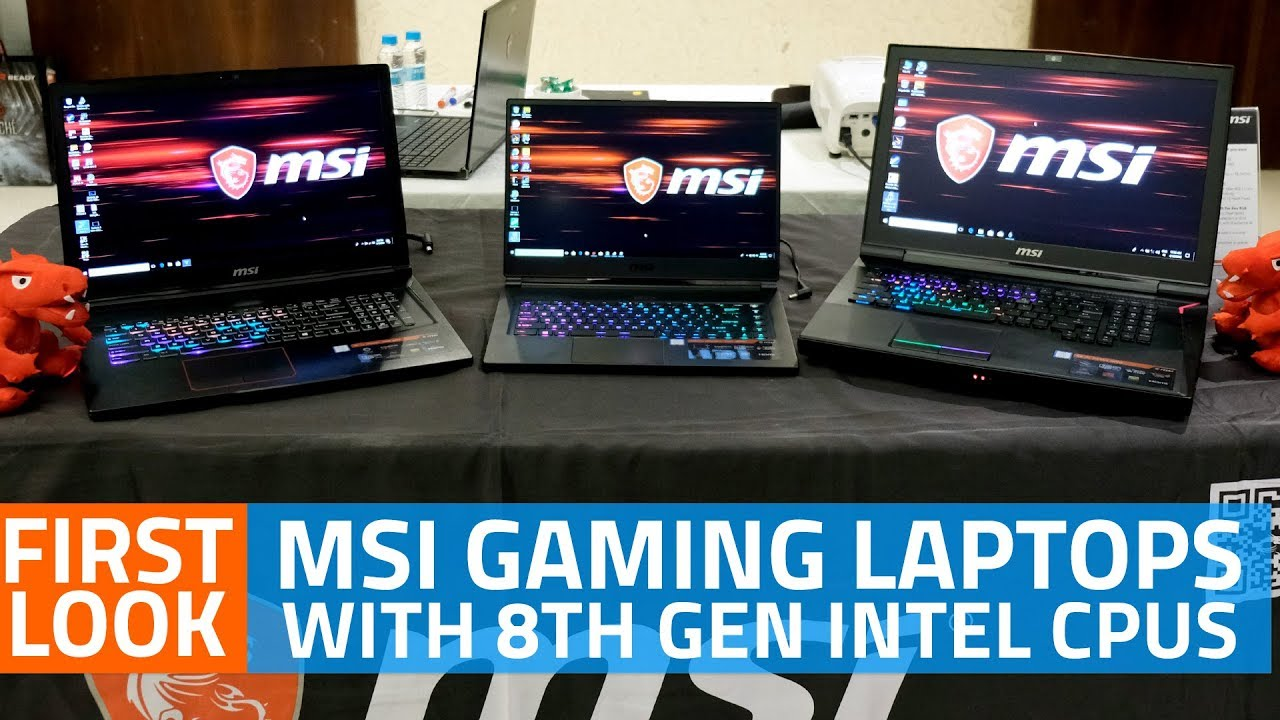 MSI GS65 Stealth Thin, GT75 Titan, GE73 Raider RGB Edition Gaming Laptops  First Look