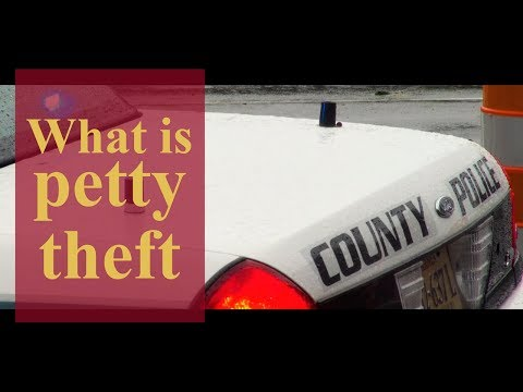 What is petty theft? | Pennsylvania Criminal Defense & Personal Injury Lawyers