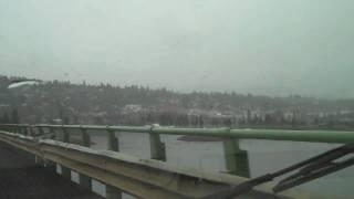 Hood River Bridge - Heading home in the rain