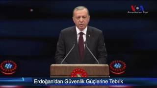 Erdoğan Güvenlik Güçlerini TebrikEtti