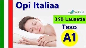 Opi italiaa | 350 Lausekkeet italiaksi ja suomeksi | #Prolingoo_Finnish
