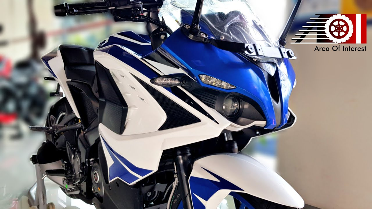 New Bajaj Pulsar Rs200 Abs Racing Blue Color Price Mileage Features Specs Youtube