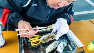 street food japan | oysters (boiled)