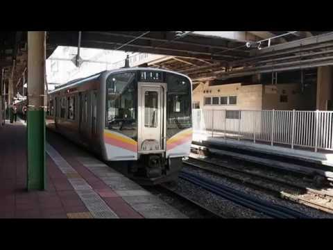 【HD】E129系信越本線普通長岡行(新潟発車) Series E129 Shinetsu Line Local for Nagaoka Departing from Niigata