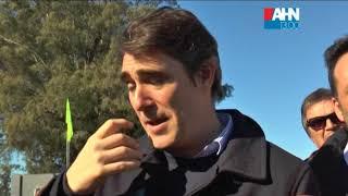 JAVIER IGUACEL   VICTOR AIOLA   JUAN CARLOS MINCHILLI   RECORRIDO POR EL OBRADOR   AUTOPISTA RN Nº 7