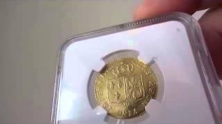 フランス ルイディオール金貨 Louis XVI gold Louis d'or 1786 W MS65 NGC