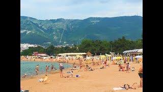 Геленджик. Погода 4 июня 2019г. Центральный пляж. Людей с каждым днем больше