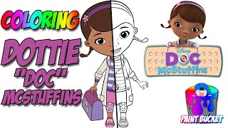 Doc McStuffins Coloring Pages - Disney Junior Coloring Book for Kids to Learn Colors