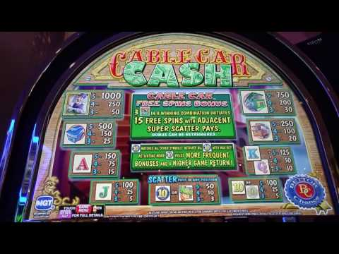 Live Play! Cable Car Cash slot machine at Dover Downs Casino
