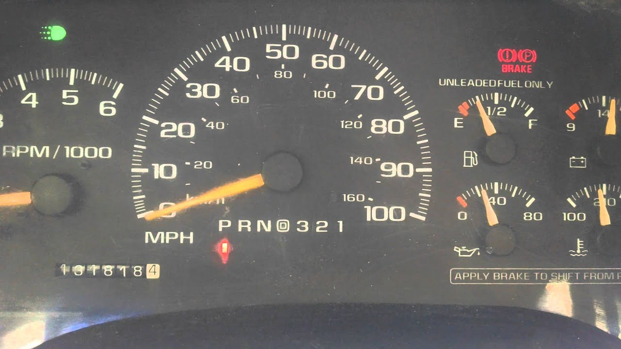 Chevy Blazer 2015 >> 1994-1999 Chevy Truck Oil Pressure Gauge malfunction - YouTube