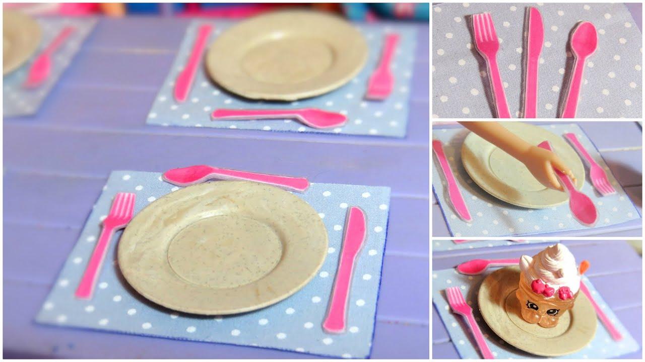 Colher, Garfo E Faca Para Barbie DIY (Talheres).