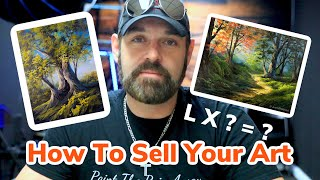 How To Sell Your Art In 7 Minutes | Explained | Paintings By Justin