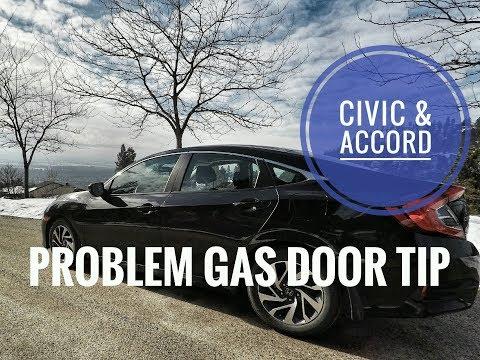 Honda Civic & Accord Capless Gas Door Problem TIP / FIX 2016 2017 2018