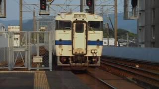 唐津線普通列車(キハ47系)・唐津駅に到着