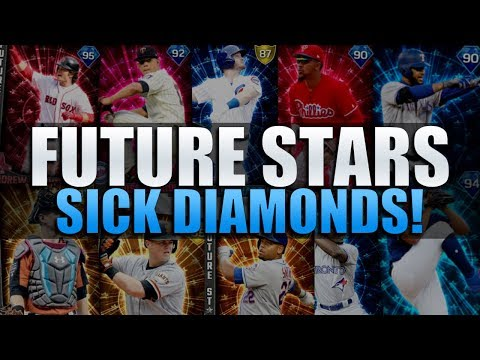 2 GAMES WITH ALL THE NEW DIAMONDS! FUTURE STARS TEAM BUILD! MLB 17 DIAMOND DYNASTY!