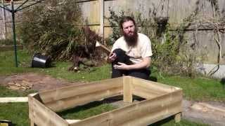 Raised Bed Frame Made From Featherboard Fencing