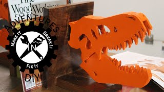 T-rex Bookends - Scrap Bin Challenge 2014