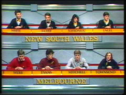 University Challenge Melbourne vs New South Wales Grand Final 1988