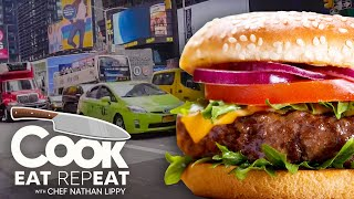 Nate Goes On A NYC Burger Tour with George Motz | Cook Eat Repeat | Blackstone