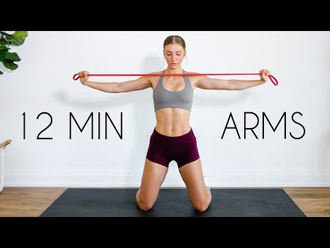 12 min UPPER BODY RESISTANCE BAND Workout (At Home)
