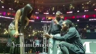 Offset Proposes to Cardi B live on stage at Power 99 Powerhouse Philly 2017