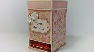 DIY | Tutorial - Caixa para Chá - Tea Bag Dispenser Box