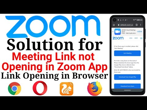 Solution for Zoom Meeting Link not Opening in Zoom Mobile App