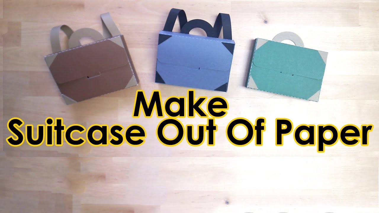Tutorial Template FREE Paper Suitcase For Daddy