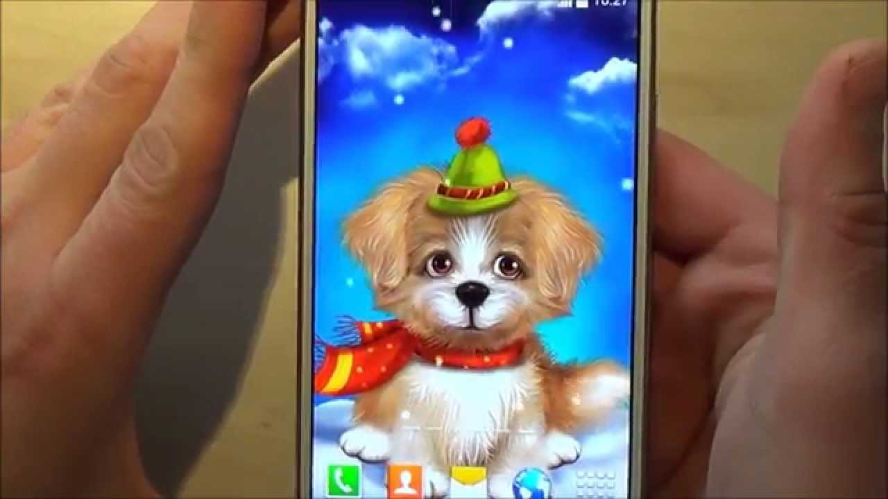 Cute Puppy Live Wallpaper For Android Phones And Tablets