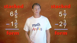 Math Antics - Subtracting Mixed Numbers