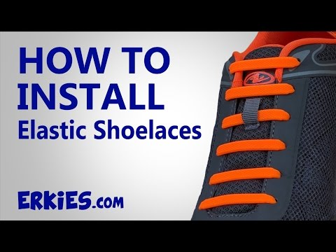 How To Install Elastic No-Tie Shoelaces