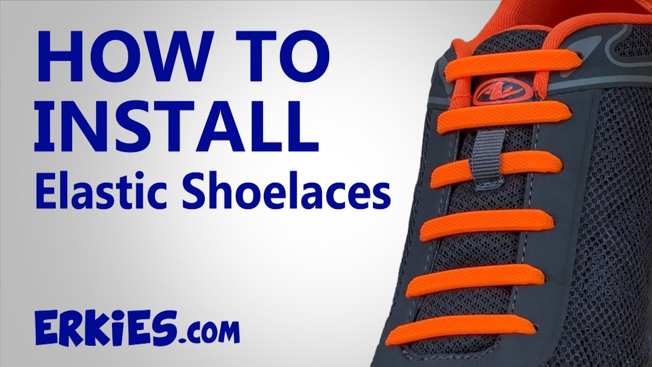 e42368b5d7b8c2 How To Install Elastic No-Tie Shoelaces with Instructions - YouTube
