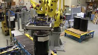Video Palletizing 55-Gallon Drums with Robotic Palletizing System - RLS Enterprises download MP3, 3GP, MP4, WEBM, AVI, FLV November 2018