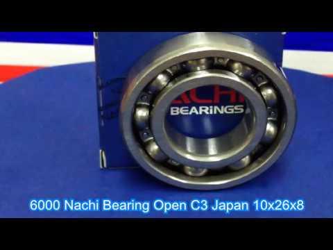 6000 Nachi Bearing Open C3 Japan 10x26x8