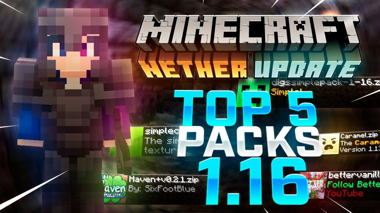 TOP 5 Textures Packs SIN LAG para MINECRAFT 1.16 - 1.16.1
