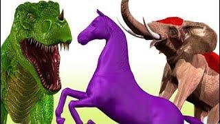 Динозавр Против Слона Короткометражный Фильм | Мультфильмы Динозавров Для Детей | 3D Анимация Детск