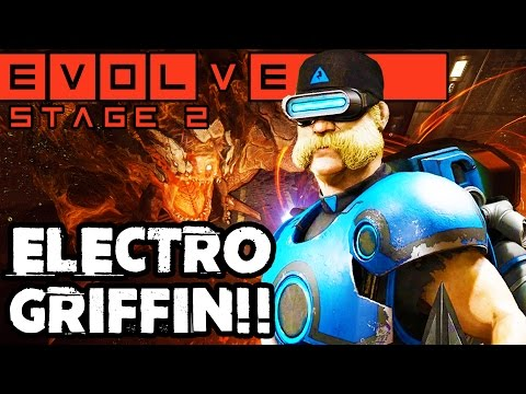 ELECTRO GRIFFIN GAMEPLAY!! NEW STAGE TWO HUNTER!! Evolve Gameplay Walkthrough (PC 1080p 60fps)