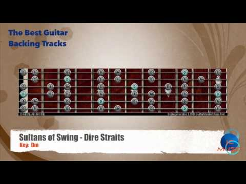 Sultans of Swing - Dire Straits Guitar Backing Track with scale chart