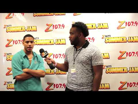 Arin Ray interview at z1079 summer jam backstage 2017