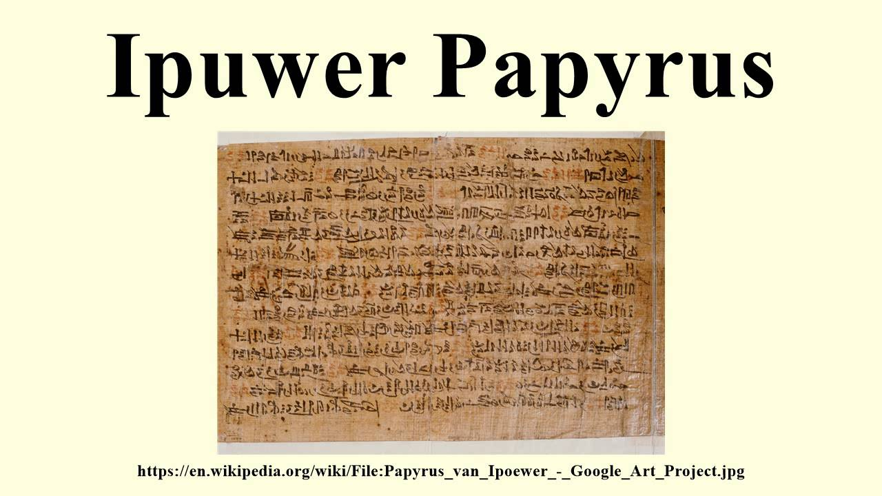 ipuwer papyrus dating