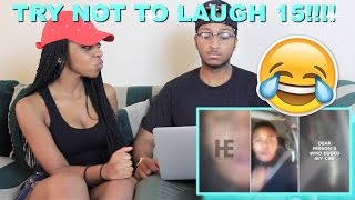 Couple Reacts : Try Not To Laugh Or Grin Challenge Part 15!!!! Loser Does Cinnamon Challenge!