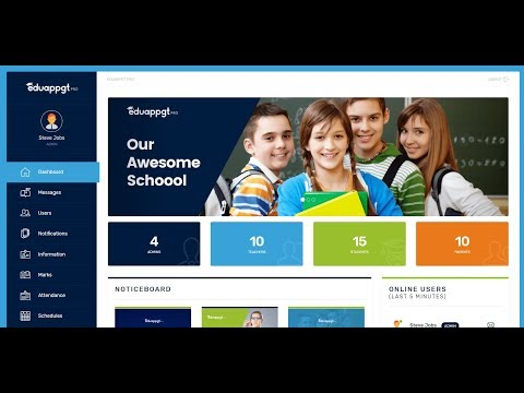 Professional School Management System Using PHP & Bootstrap
